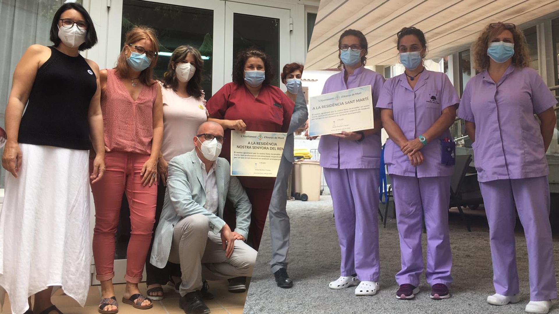 NOU REPORTATGE: Homenatge al personal de les residències per la seva tasca durant la pandèmia de la COVID-19