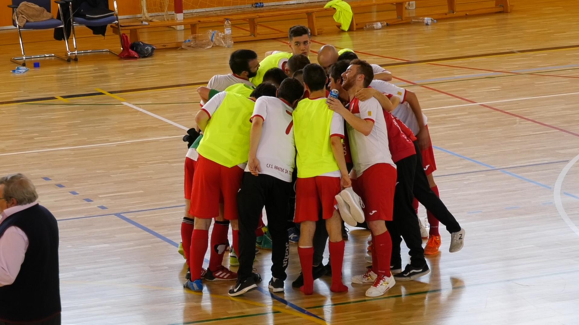 NOU REPORTATGE: L'Ajuntament d'Arenys de Munt celebra l'ascens del Club Futbol Sala