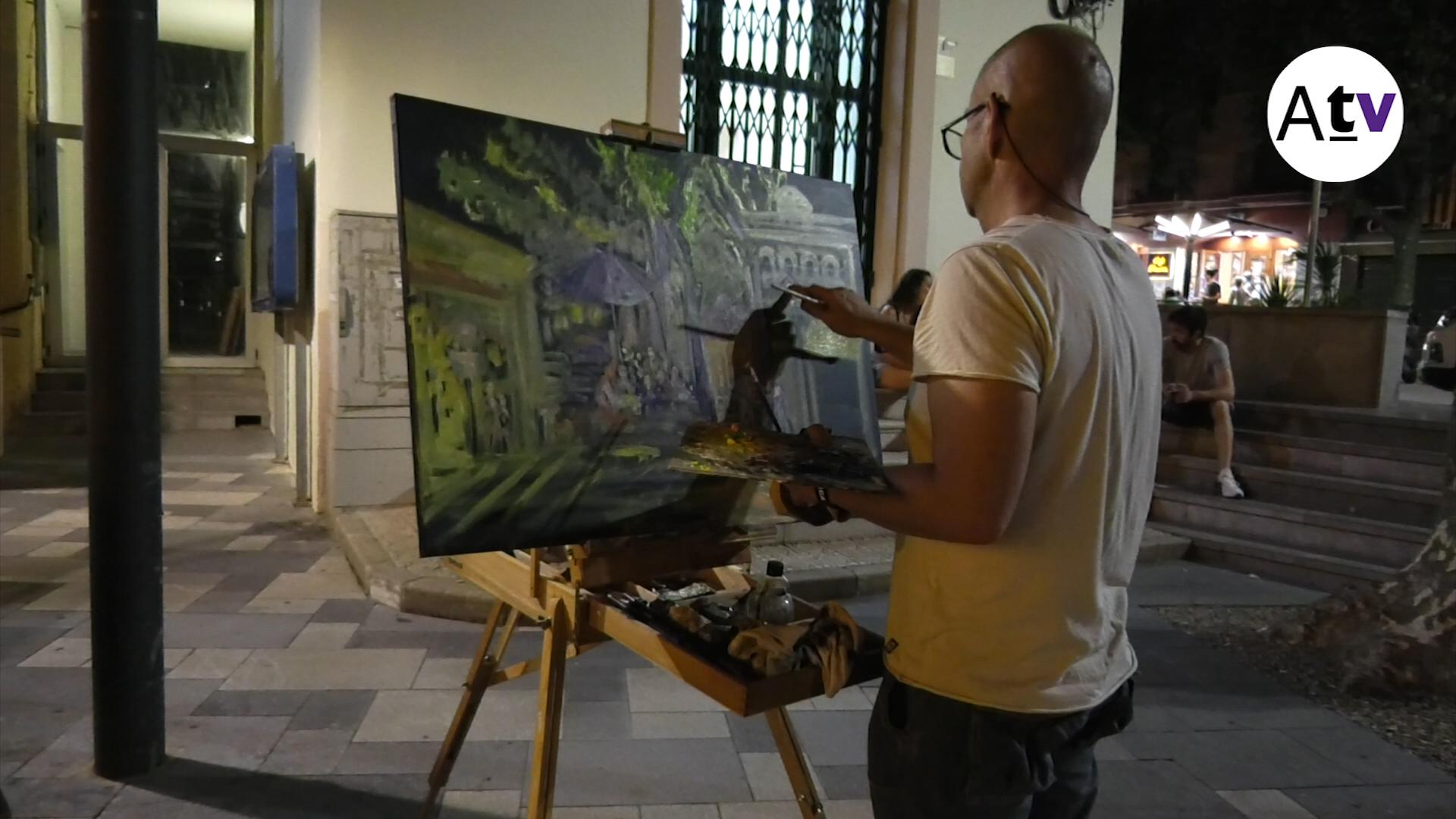 NOU REPORTATGE: Quaranta artistes van pintar indrets del poble en la 15ena Nit Bruixa
