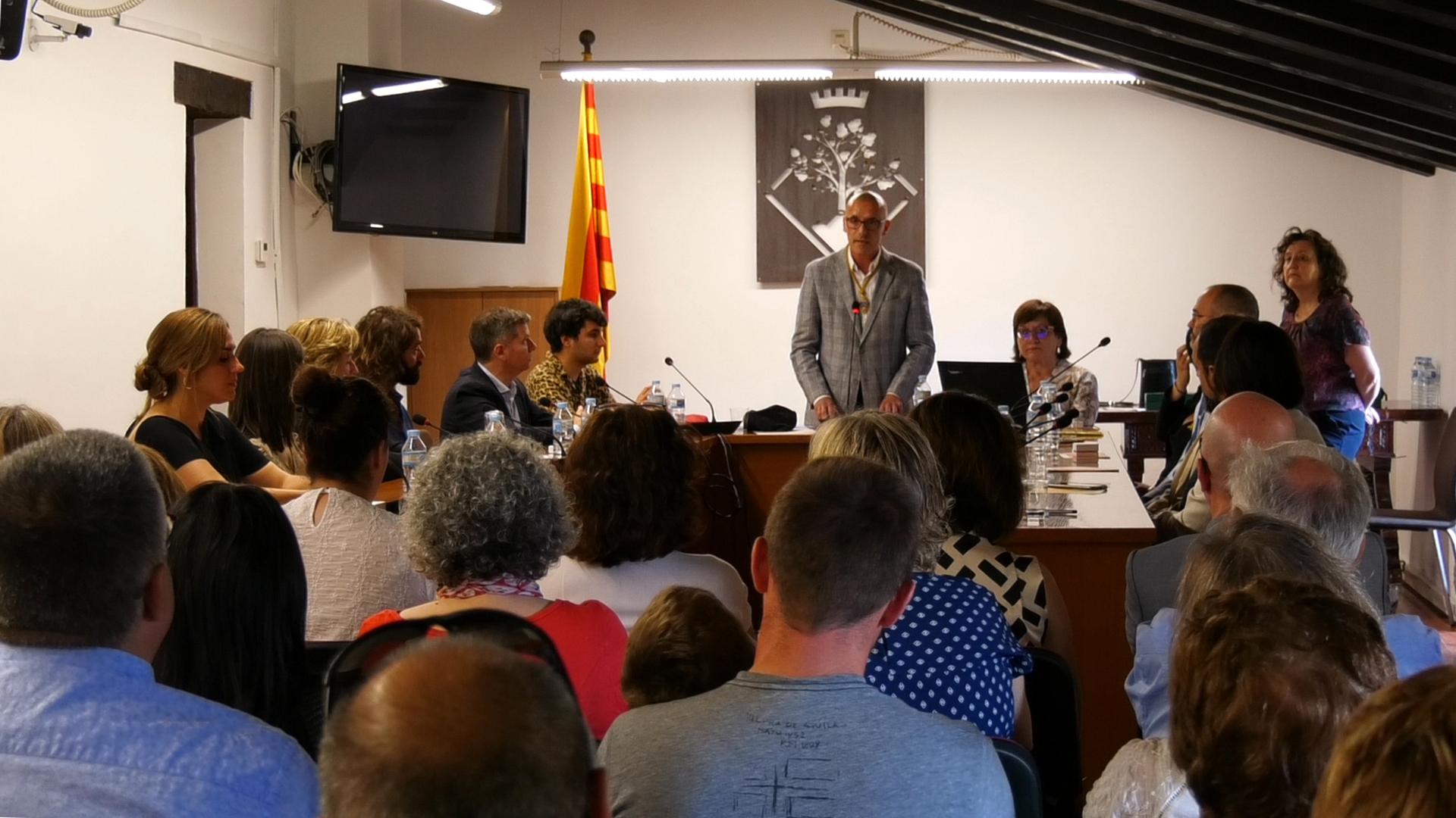 Josep Sànchez ha estat investit nou alcalde d'Arenys de Munt